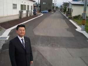 富田地区の古い側溝を改修しました。