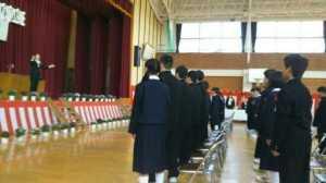 卒業式豊畑小②