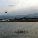 海岸沿いの野球場