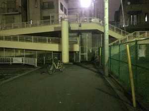 平井7スーパー堤防連絡階段(照明設置前①)