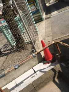 平井3丁目6号棟7号棟間の側溝補修④