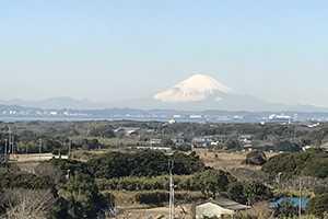 市役所5Fからの富士