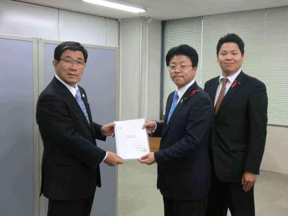 古田岐阜県知事に予算要望