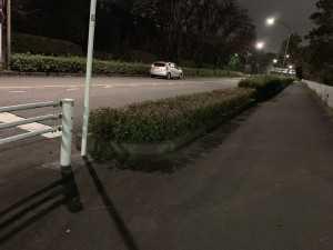 松が谷交番のT字路