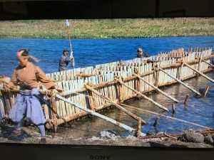 テレビで堰を作る様子が映っていましたが、羽村の堰もこのようにつくられたのかな?と先人の苦労を感じました。
