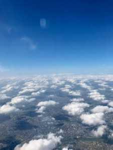 うろこ雲上から見ると