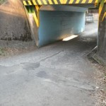 東萩山小付近道路改良