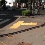 久米川駅南口点字ブロック
