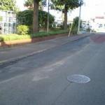 栄町一丁目都営前道路舗装