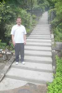 「はかやま」の階段補修整備