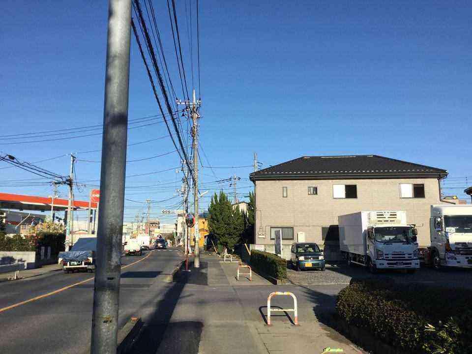 金明町鳩ケ谷線 歩道の拡幅②161225