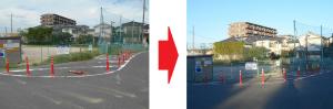 備後須賀第2ちびっこ広場前のポール補修(要望2015/7・完了2015/10)