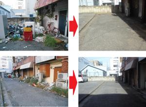 中央1丁目付近の不法投棄片付け推進(2015/08/22)