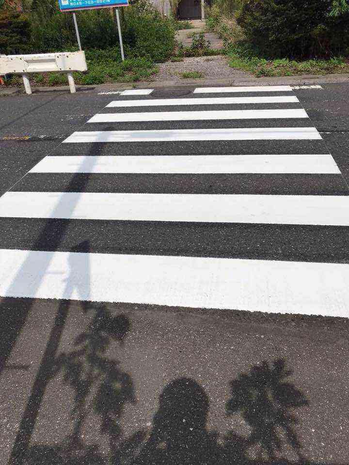 横断歩道ペイント表示後
