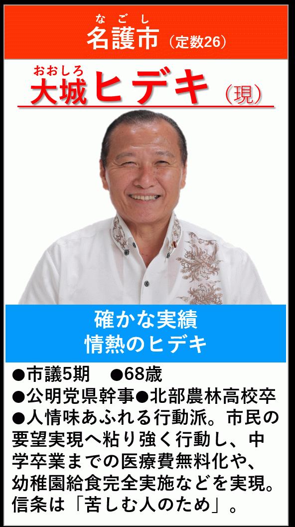 名護市 大城ヒデキ : 公明党 沖...