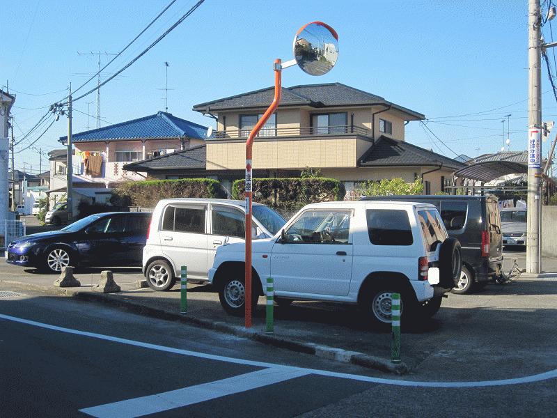 【 石井24号線】【石井281号線】十字路カーブミラー