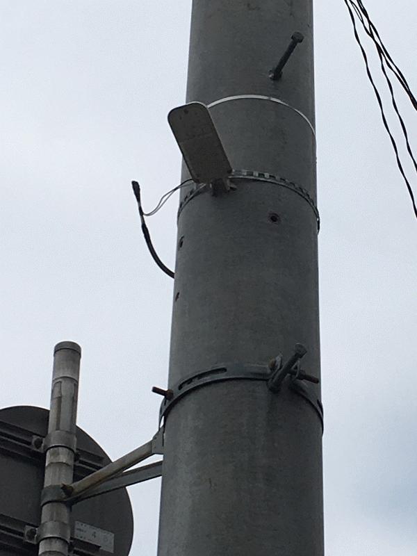 市道【素鵞71号線】1か所に防犯灯設置