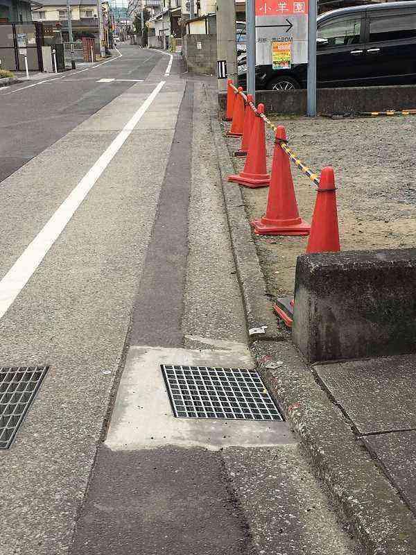 市道【素鵞71号線】素鵞地区社協連絡拠点前に雨水排水口を設置