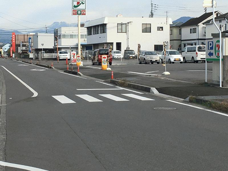 中川自動車前【久米51号線】【石井275号線】に横断歩道設置