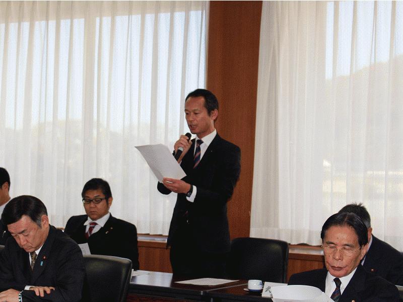 松山市がん対策推進条例案に関する全議員説明会