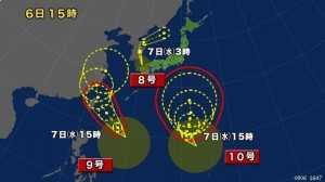 台風NHKニュース