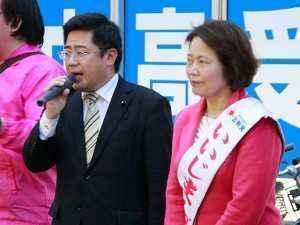 斉藤やすひろ都議会議員の遊説