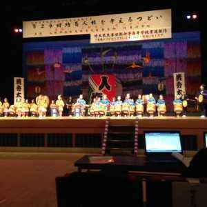 心しみいる清秀幼稚園の日本太鼓