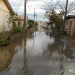 八丁寺住宅内道路冠水