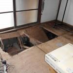 市営八丁寺住宅 浸水後室内