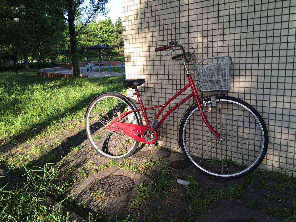 富田公園の放置自転車2