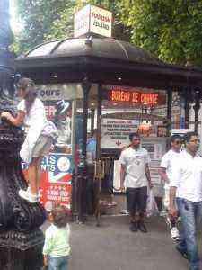 ロンドン市内のチケット代理店