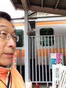 東青梅駅朝の遊説