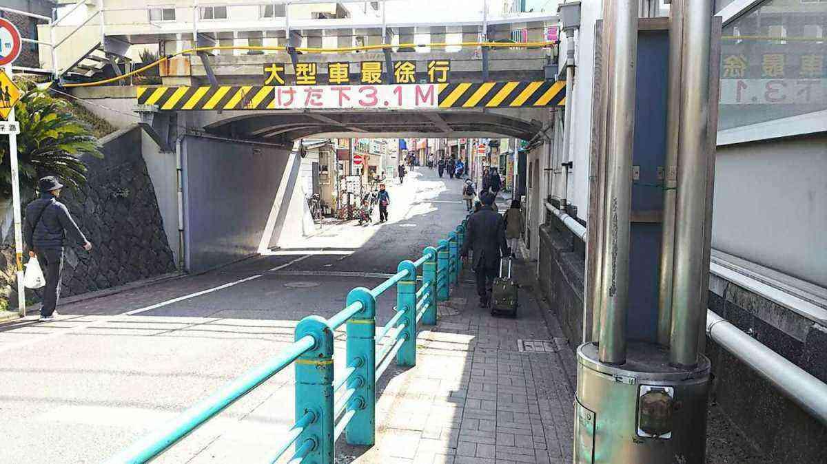 洗足池駅 ガード
