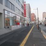 新宿北郵便局前の歩道補修