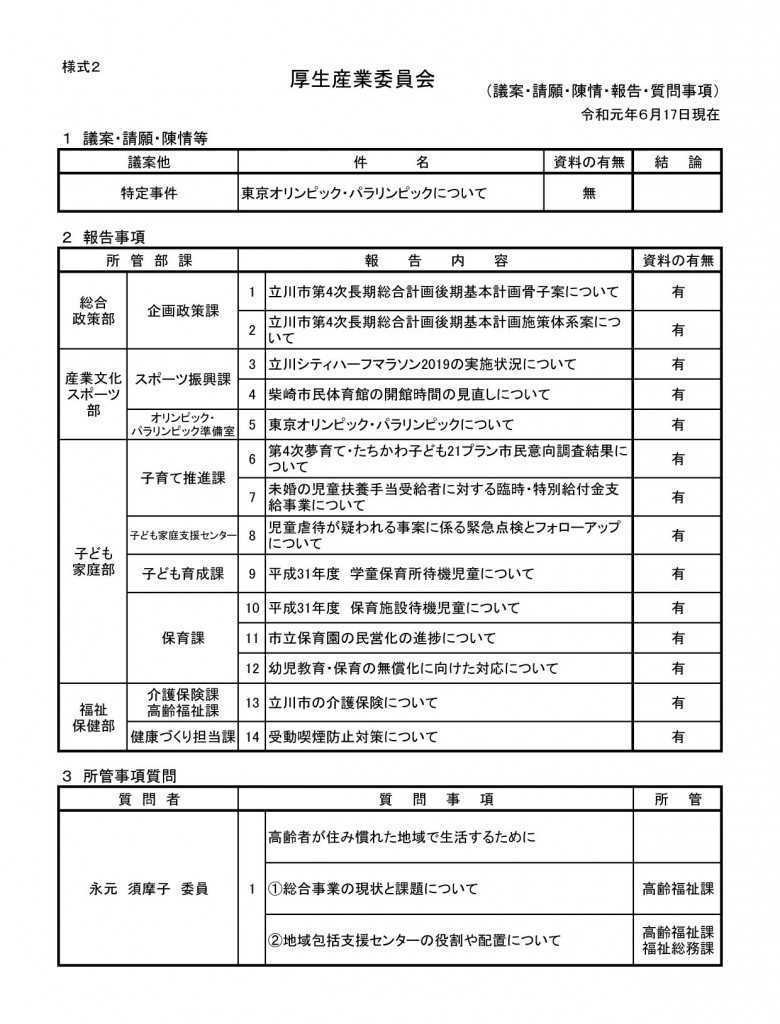 【差替後】厚生産業審査・報告事項一覧(様式2)