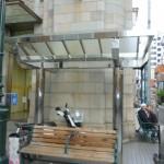 商店街のベンチ