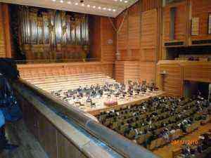 演奏前の準備 藝大奏楽堂