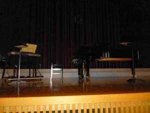 コンサート終了後ステージ