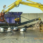 台東区の革廃棄物の処理現場