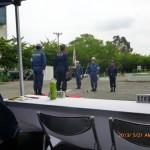 水防訓練開始報告