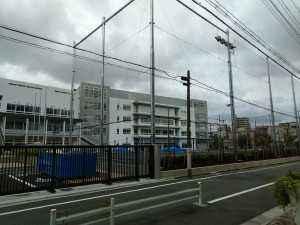 吾立中校庭工事 (2)