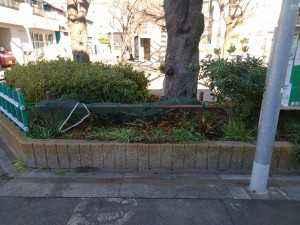 中川公園の柵修理 (2)