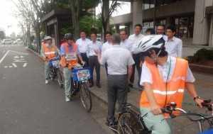 自転車条例 写真市役所前