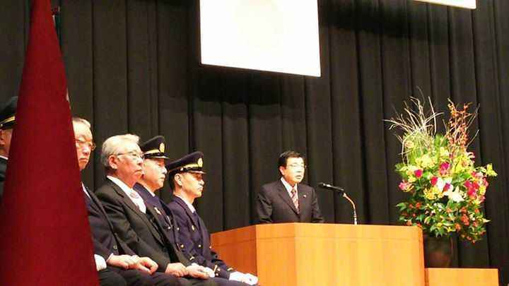 豊島消防団始式に出席