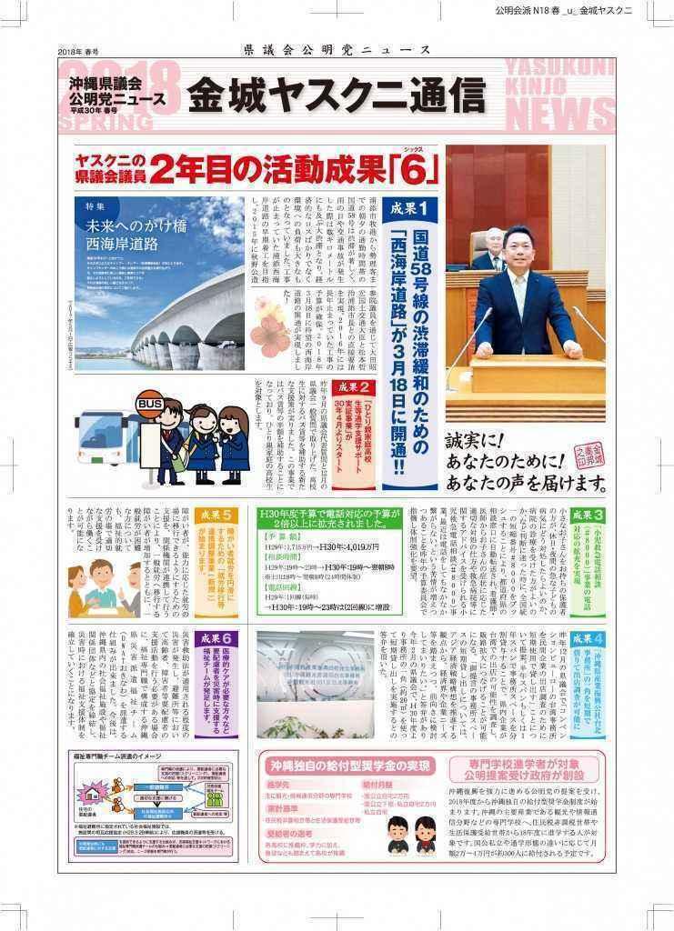 20118議会報告チラシデータ(個人・金城ヤスクニ)