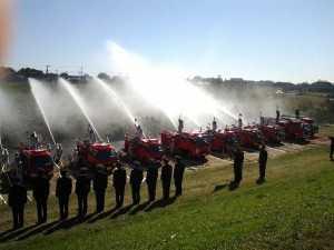 消防点検 放水