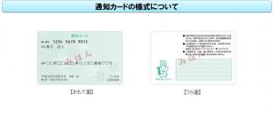 マイナンバーの通知カード表
