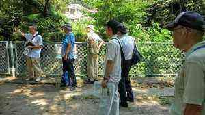 田越川の蛍調査の説明