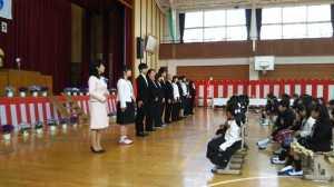 豊畑小学校入学式②