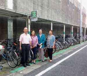平井駅東側駐輪場電光掲示板設置